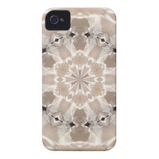 cream and beige cafe au lait abstract art iPhone 4 case