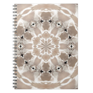 cream and beige cafe au lait abstract art notebook