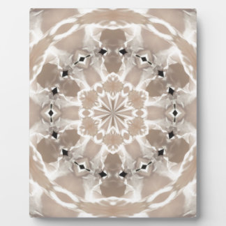 cream and beige cafe au lait abstract art plaque