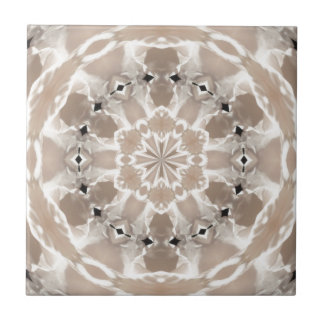 cream and beige cafe au lait abstract art small square tile