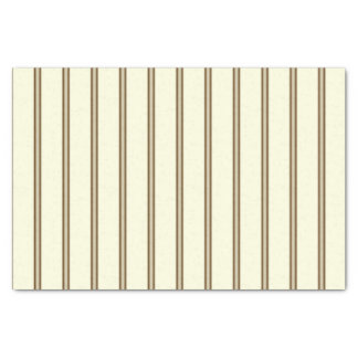 Cream and Brown Stripes Tissue Paper