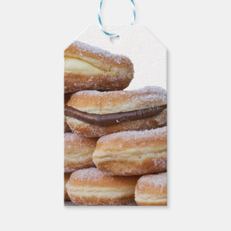 cream and chocolate donuts gift tags