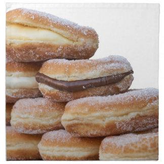 cream and chocolate donuts napkin