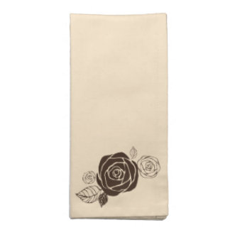 Cream and Coffee Roses Coordinating Gifts Napkin