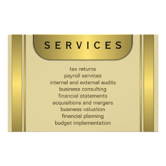 """Cream and Gold Plate 5.5"""" x 8.5"""" Accountant Flyers"""