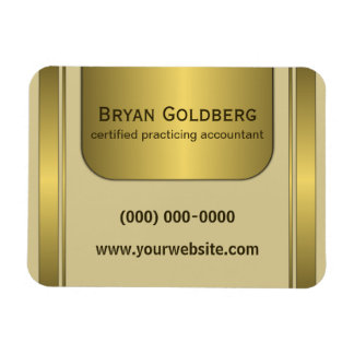 Cream and Gold Plate Accountant Small Flexi Magnet