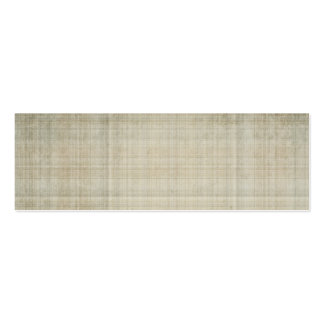 cream and gray plaid business card