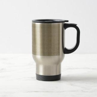 cream and gray plaid coffee mugs