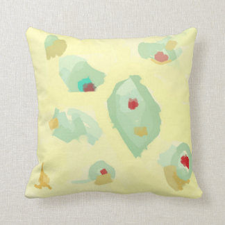 Cream and Green >Pastels Throw Pillow Throw Cushion