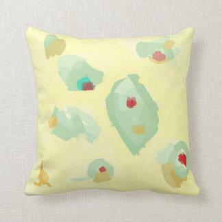 Cream and Green >Pastels Throw Pillow Throw Cushion