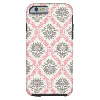 cream and grey tan damask bliss tough iPhone 6 case