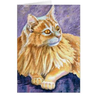 Cream Angora Cat Card