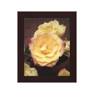 Cream Artwork Rose Canvas Wall Art Gallery Wrap Canvas
