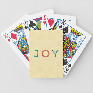 Cream Background Modern Christmas 'Joy' Bicycle Playing Cards