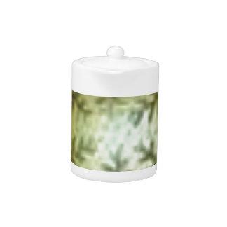 cream ball with ferns