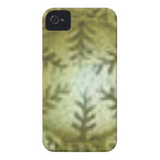 cream ball with ferns iPhone 4 case