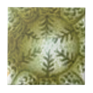 cream ball with ferns tile