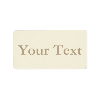 Cream & Beige Stickers or Labels w/ Custom Text