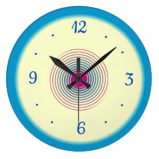 Cream Blue Aqua with Plum > Plain Kitchen Clocks
