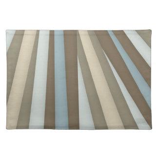 Cream Brown Light Blue Mat