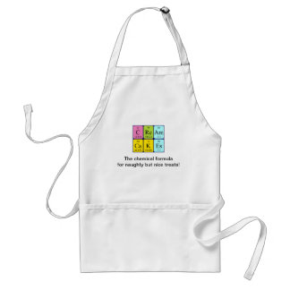Cream Cakes periodic table phrase apron