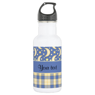 Cream Checks, Moons & Stars 532 Ml Water Bottle