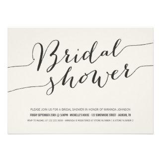 Cream Chic Bridal Shower Invitations