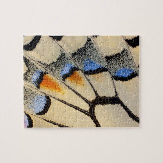 Cream color butterfly wing detail jigsaw puzzle