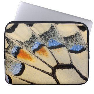 Cream color butterfly wing detail laptop sleeve