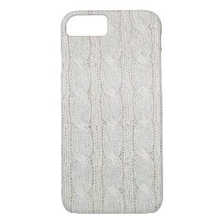cream colored cable knit pattern iPhone 8/7 case