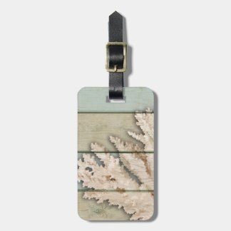 Cream Colored Coral Luggage Tag
