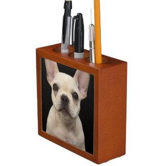 Cream colored French Bulldog puppy Desk Organiser