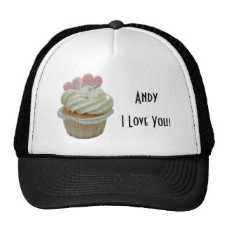 Cream Cupcake with Pink Hearts Hat