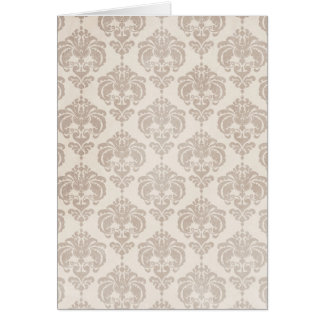 Cream Damask Card