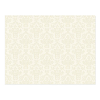 Cream Damask Pattern Postcard