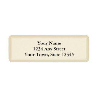 Cream & Ecru Custom Return Address Label