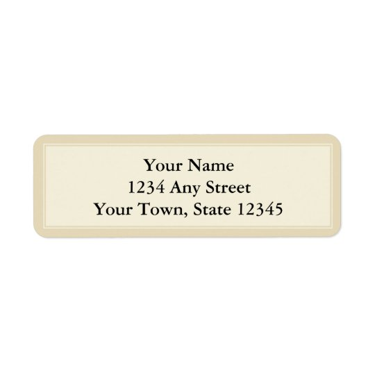 Cream & Ecru Custom Return Address Label