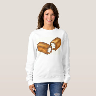 Cream Filled Junk Food Snack Cake Sweatshirt