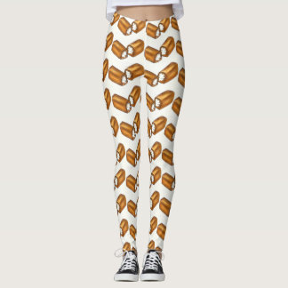 Cream-Filled Snack Cake Foodie Print Leggings