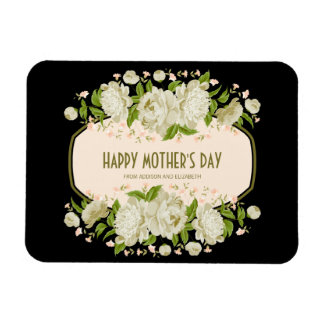 Cream Floral Happy Mother's Day Magnet