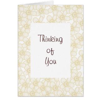 Cream Flowers Greeting Card