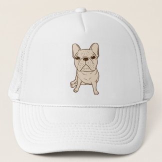 Cream French Bulldog Trucker Hat