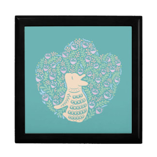 Cream Frenchie and the Spring foliage Gift Box