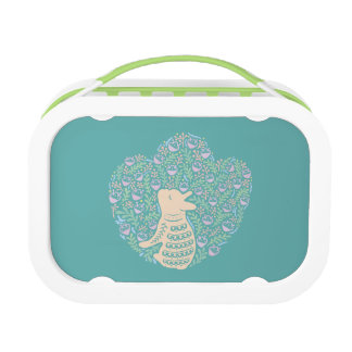 Cream Frenchie and the Spring foliage Lunch Box