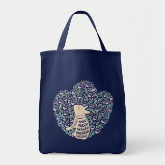 Cream Frenchie and the Spring foliage Tote Bag