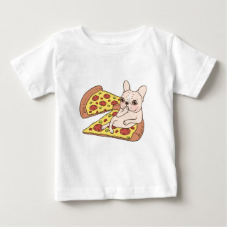 Cream Frenchie invites you to her pizza party Baby T-Shirt