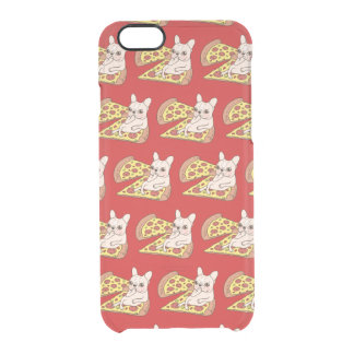 Cream Frenchie invites you to her pizza party Clear iPhone 6/6S Case