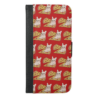 Cream Frenchie invites you to her pizza party iPhone 6/6s Plus Wallet Case