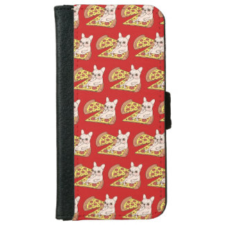 Cream Frenchie invites you to her pizza party iPhone 6 Wallet Case