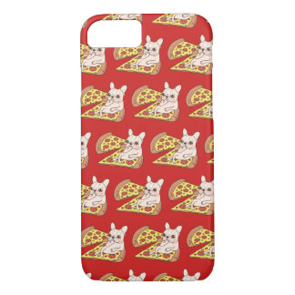 Cream Frenchie invites you to her pizza party iPhone 8/7 Case